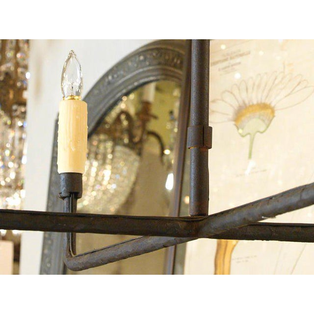 """Contemporary Customizable """"Guernesy"""" Hand-Wrought Custom Iron Chandelier For Sale - Image 3 of 7"""