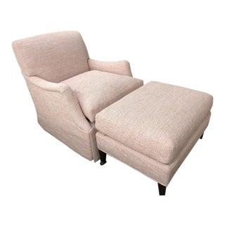 Highland House Dorset Skirted Swivel Chair & Ottoman For Sale