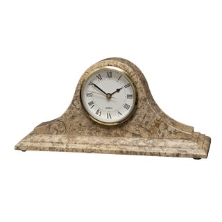 Tan Marble Mantle Clock