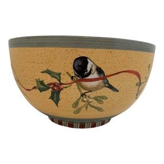 Christmas/Winter Garden Lennox Greeting Decorative Bowl For Sale