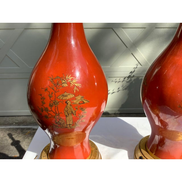 Frederick Cooper Chinoiserie Lamps, a Pair For Sale - Image 9 of 13