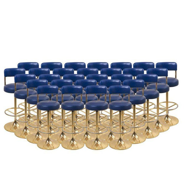 1 of 19 Brass Börje Johansson Bar Stools by Johansson Design For Sale - Image 9 of 9