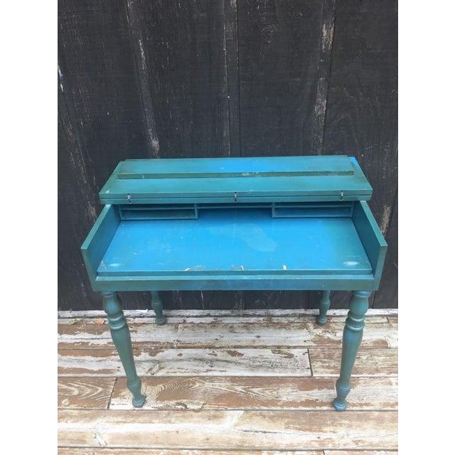 Boho Chic Vintage Secretary Desk For Sale - Image 3 of 13