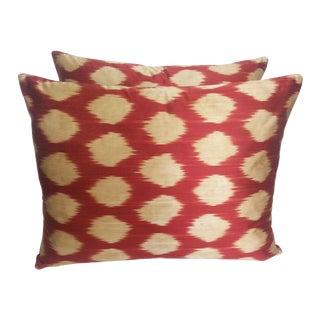 Turkish Silk Polka Dot Pillows - A Pair