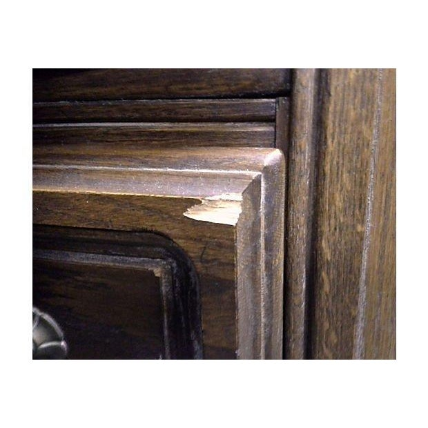 Wood Conant Ball Tall Oak Armoires - Pair For Sale - Image 7 of 7
