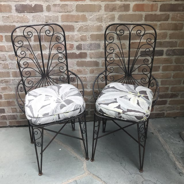 Vintage Petite Iron Chairs - A Pair - Image 2 of 6