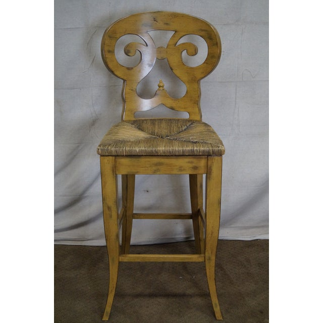 Biedermeier Style Counter Bar Stools - a Pair For Sale - Image 9 of 10