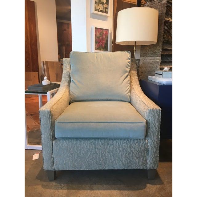 Cox Light Aqua & Zebra Stripe Chair - Image 5 of 5