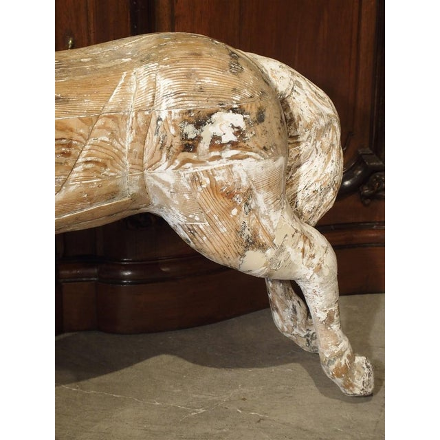 Metal Antique Whitewashed Carousel Horse From Spain, Circa 1915 For Sale - Image 7 of 13
