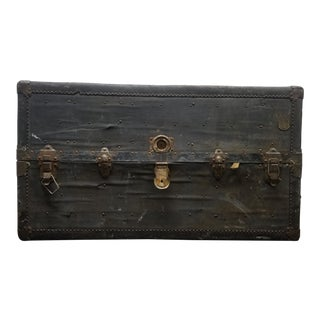 1900s Rustic Steamer Trunk For Sale