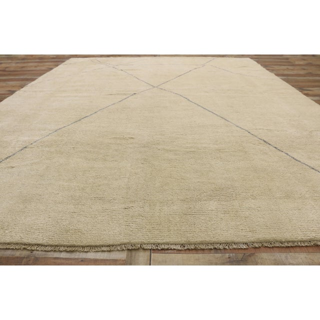 Textile Contemporary Moroccan Area Rug With Modern Style - 10'03 X 13'07 For Sale - Image 7 of 10