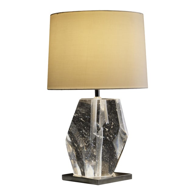Crystal Faceted Lamp For Sale