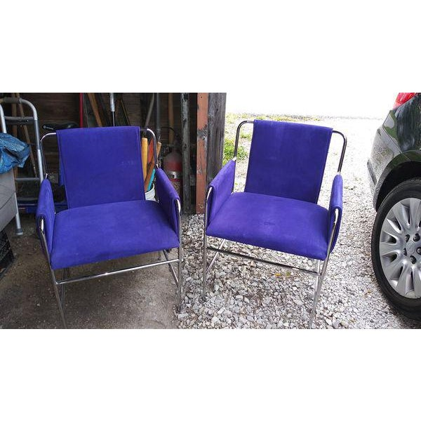 John Geiger Ward Bennett Envelope Chairs- A Pair For Sale - Image 4 of 4