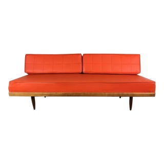 Mid-Century Modern Orange Daybed For Sale