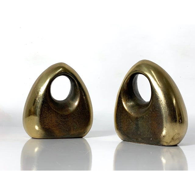 1960's Ben Seibel Brass Orb Bookends - a Pair For Sale In Detroit - Image 6 of 10
