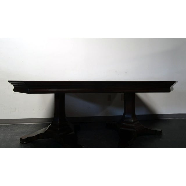 Contemporary EJ Victor Transitional Double Pedestal Dining Table For Sale - Image 3 of 11