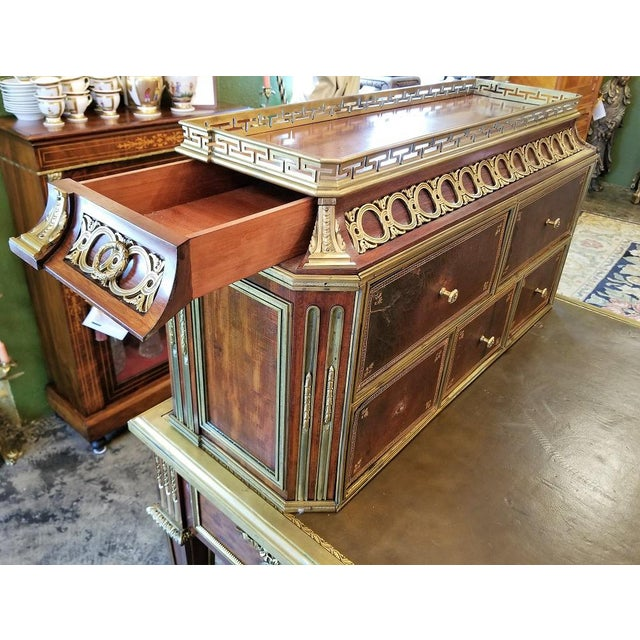 Mid 19th Century 19th Century Louis XVI Style Desk by Paul Sormani For Sale - Image 5 of 13