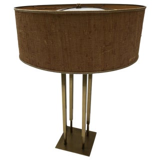 Large Modern Bronze Lamp For Sale