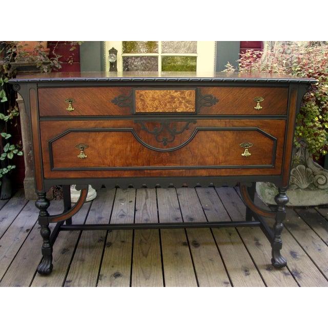 Gothic Jacobean Mahogany Dresser - Image 3 of 11
