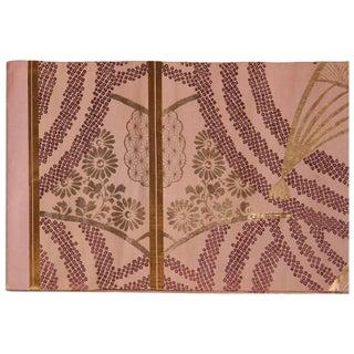 Japanese Mauve Silk Obi Belt Textile, Circa 1895