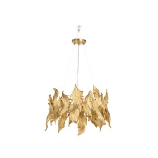 Flourish Chandelier, Brass For Sale