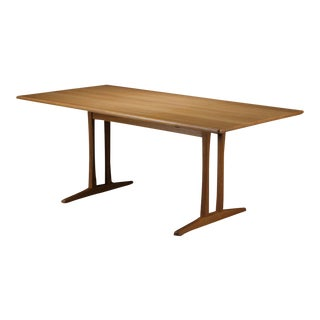 Mid Century Modern Borge Mogensen Refinished Dining Table in Oak by Fdb Mobler For Sale