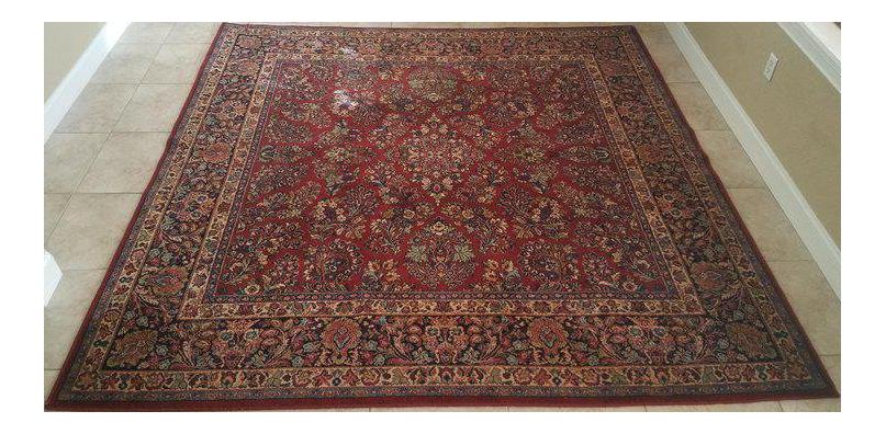 Traditional Karastan Red Sarouk Wool Rug Chairish