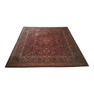 Traditional Karastan Red Sarouk Wool Rug For Sale