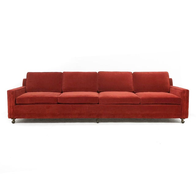 Textile Harvey Probber Double Arm Sofa For Sale - Image 7 of 10