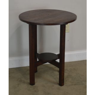 Antique Mission Oak Round Side Table - Possibly Stickley Preview