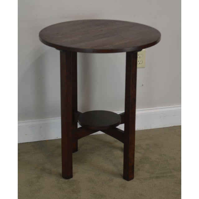 Antique Mission Oak Round Side Table Possibly Stickley Chairish