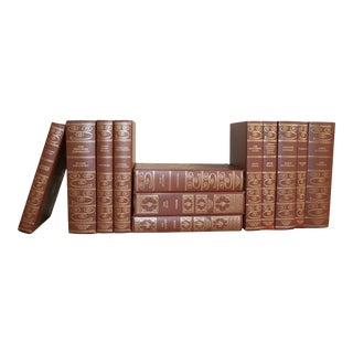 Vintage Brown and Gold Classic Literature Books - Set of 12 For Sale