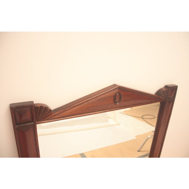 Pediment Detail Beveled Mirror For Sale - Image 11 of 11