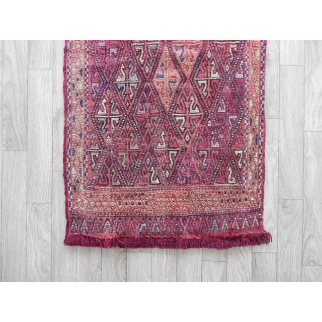 1970s Masterwork Hand-Woven Rug Braided Small Kilim 1′8″ × 3′3″ For Sale - Image 5 of 6