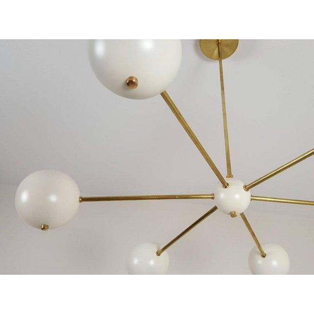 """Not Yet Made - Made To Order Custom """"Aster"""" Pendant in Brass + Enamel by Blueprint Lighting For Sale - Image 5 of 8"""