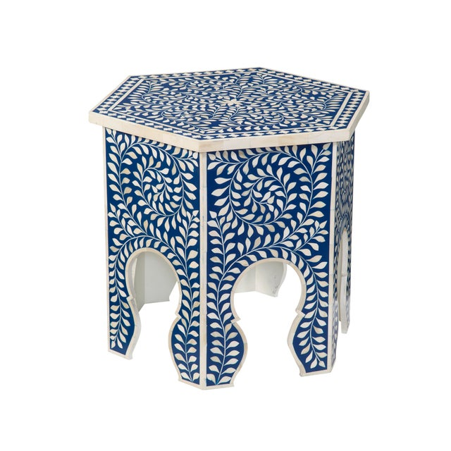 """Add a splash of color or """"wow"""" with the Imperial Beauty Moroccan-inspired hexagon accent table. Top this uniquely shaped..."""