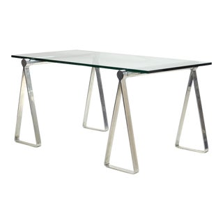 "1970s Aluminum ""Sawhorse"" Table or Desk For Sale"