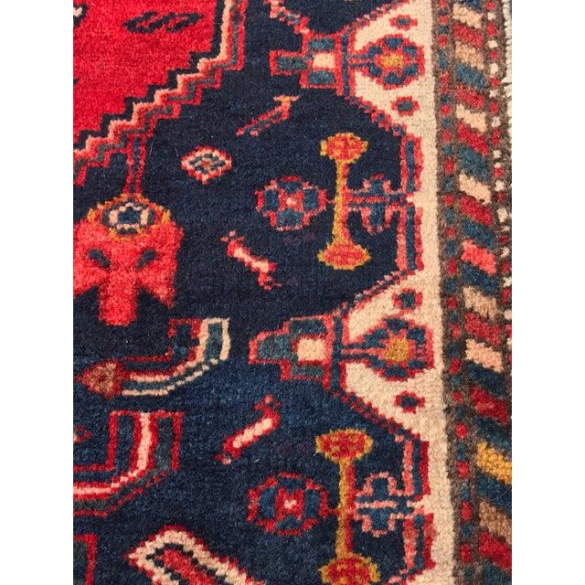 "Vintage Persian Zanjan Short Runner - 2'9"" x 6' - Image 7 of 10"
