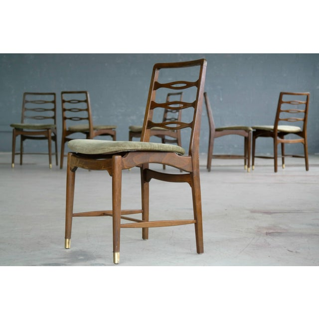 Set of Six Ole Wanscher Attributed Danish Midcentury Dining Chairs For Sale - Image 9 of 10