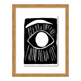 Eyeball 2 by Kate Roebuck in Gold Framed Paper, Small Art Print For Sale