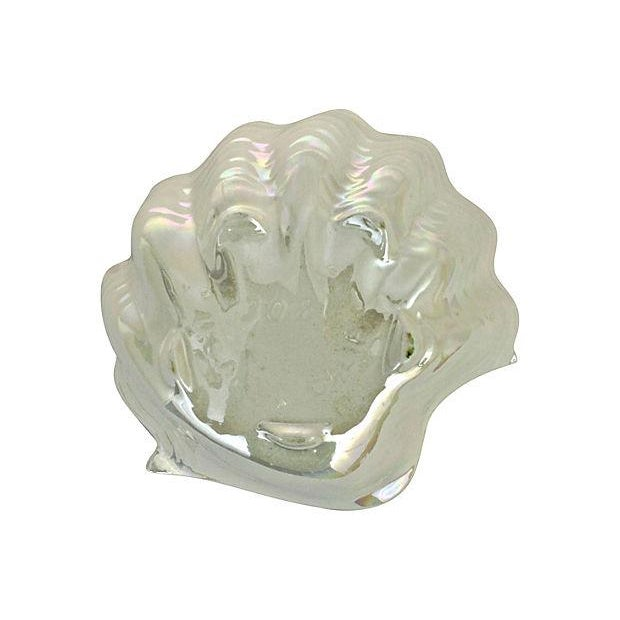 Opalescent Clamshell Dish Bowl - Image 4 of 5