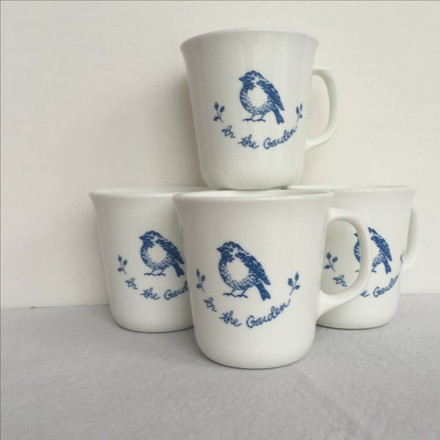 Vintage Blue & White Coffee Cups - Set of 4 - Image 4 of 11