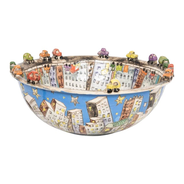 """city Scape"" Ceramic Bowl For Sale"
