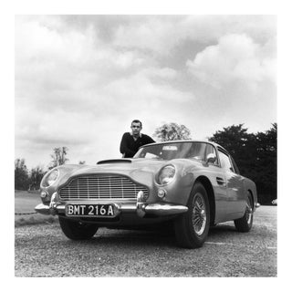 "Sean Connery and His Aston Martin From ""Goldfinger"" 1964"