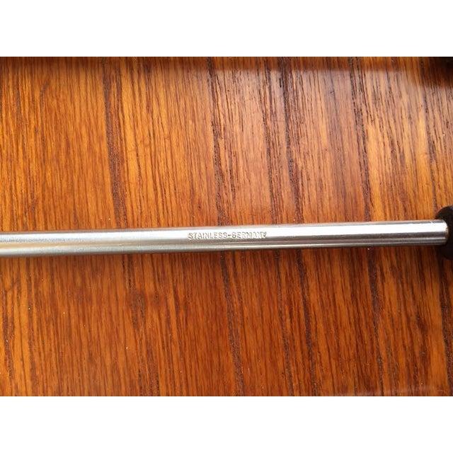 Mid-Century Steel & Walnut Fondue Forks - Set of 4 - Image 5 of 5