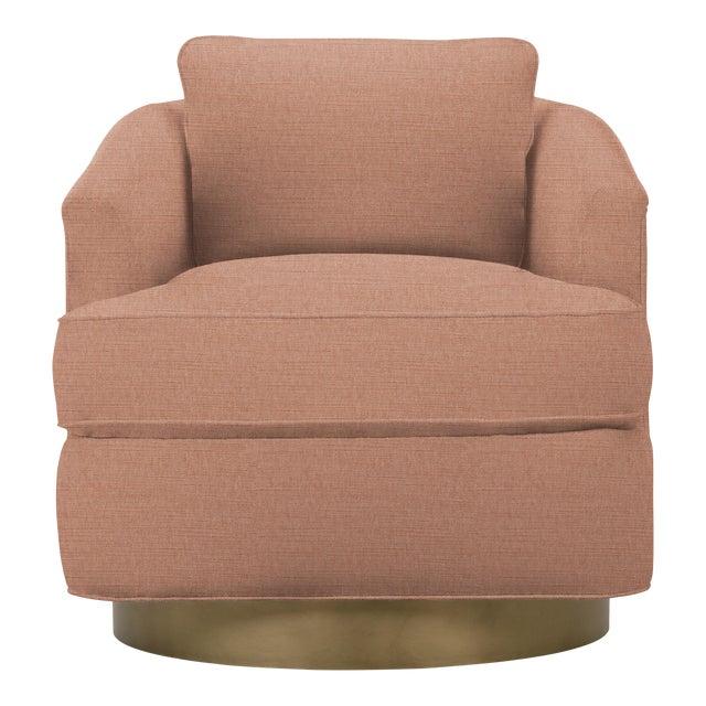 Tempest Chair, Pink Velvet For Sale