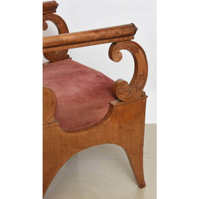Mahogany Set of Four Russian Neoclassic Mahogany Armchairs For Sale - Image 7 of 9