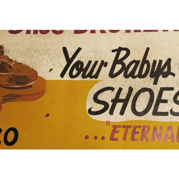 Contemporary Double Sided Baby Shoe Bronzing Sign For Sale - Image 3 of 6