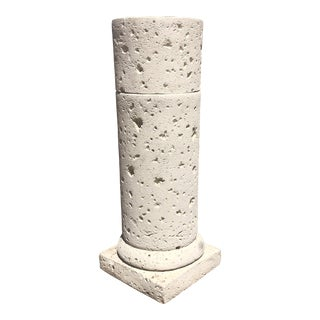 Postmodern Textured Plaster Pedestal / Column For Sale