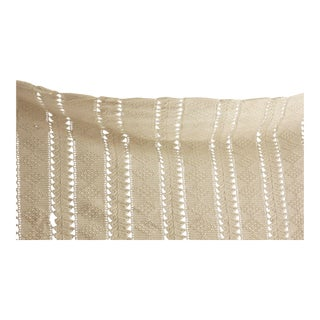 "Vintage French Hand-Made Hand-Made Lace Antique White Coverlet Crochet - 86"" x 86"" For Sale"